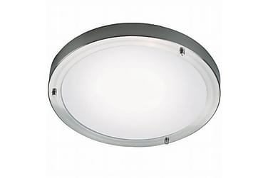 Badrumsbelysning Ancona 32 cm Rund LED Maxi Borstad Stål