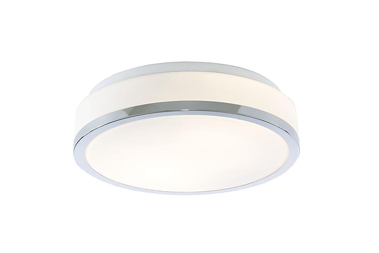 Badrumsbelysning Flush 28 cm Rund Dimbar 2 Lampor Vit/Krom - Searchlight - Belysning - Badrumsbelysning - Badrumslampa tak
