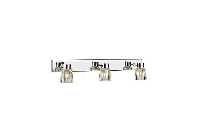 Vägglampa Eze 3L Krom/Klar - Markslöjd - Belysning - Badrumsbelysning - Badrumslampa vägg