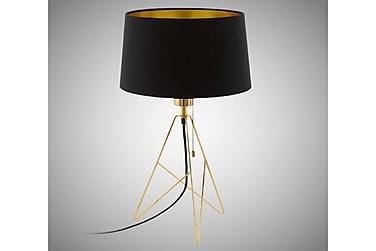 Bordslampa Camporale 30 cm Rund Svart/Guld
