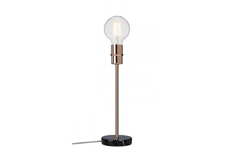 Bordslampa Converto 14 cm Rund Svart Marmor/Koppar - Cottex - Belysning - Inomhusbelysning & Lampor - Bordslampa