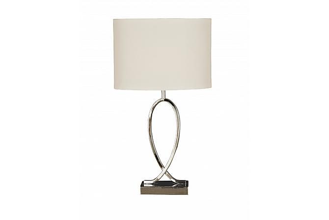 Bordslampa Posh Krom/Vit - Aneta - Belysning - Inomhusbelysning & Lampor - Bordslampa