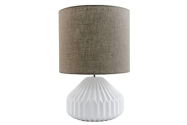Bordslampa Traditionell Keramik Vit/Brun