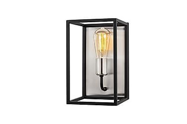 Vägglampa Kafes Nickel/Svart