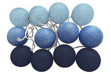 Ljusslinga Blue Indigo 12 Bollar + Batterilåda Blå