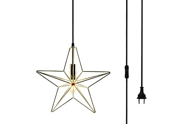 Fönsterlampa  Metallstjärna Guld