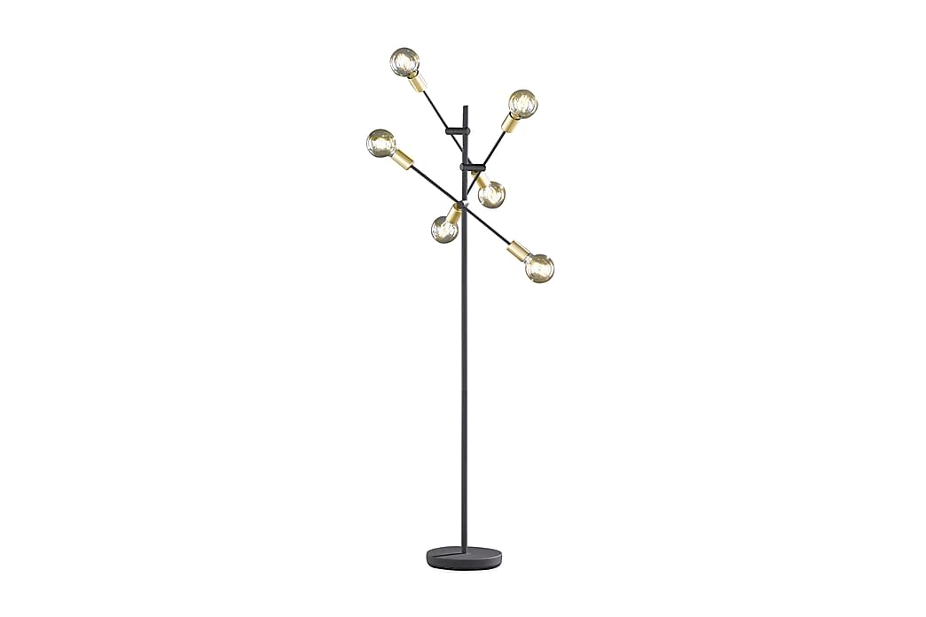 Golvlampa Cross Svart - Trio Lighting - Belysning - Inomhusbelysning & Lampor - Golvlampa