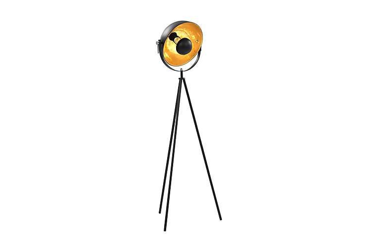 Golvlampa E27 svart och guld 31 cm - Svart - Belysning - Inomhusbelysning & Lampor - Golvlampa