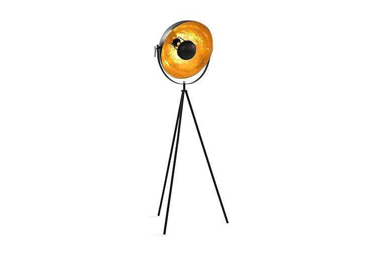 Golvlampa E27 svart och guld 41 cm - Svart - Belysning - Inomhusbelysning & Lampor - Golvlampa