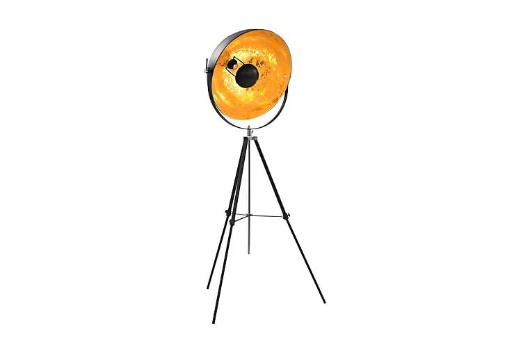 Golvlampa E27 svart och guld 51 cm - Svart - Belysning - Inomhusbelysning & Lampor - Golvlampa
