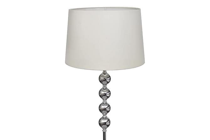 Golvlampa med högt stativ och lampskärm vit - Vit|Krom - Belysning - Inomhusbelysning & Lampor - Golvlampa