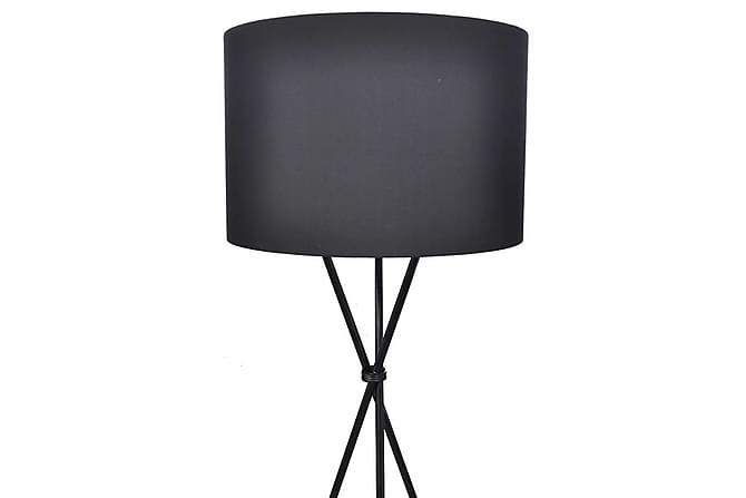 Golvlampa med lampskärm svart - Svart - Belysning - Inomhusbelysning & Lampor - Golvlampa