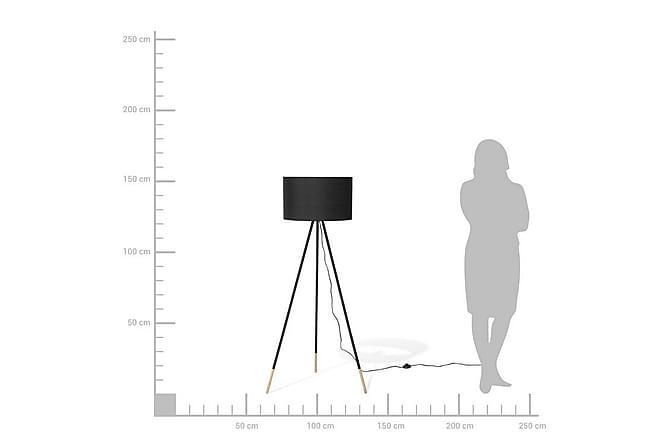 Golvlampa Tobol 157 cm - Svart - Belysning - Inomhusbelysning & Lampor - Golvlampa