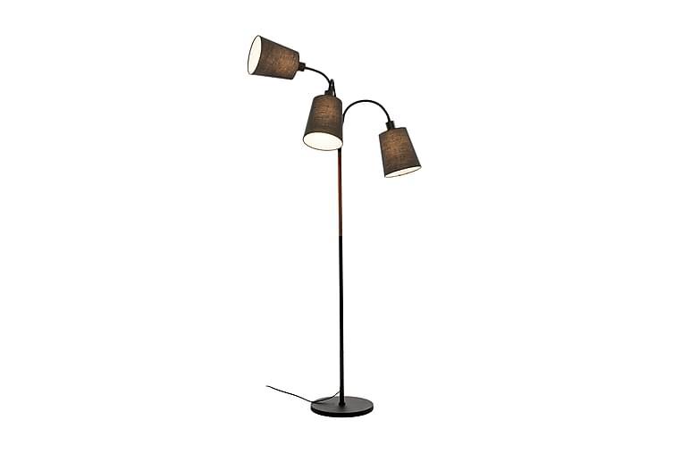 LJUSDAL golvlampa 3-arm, svart/valnöt - Belysning - Inomhusbelysning & Lampor - Golvlampa