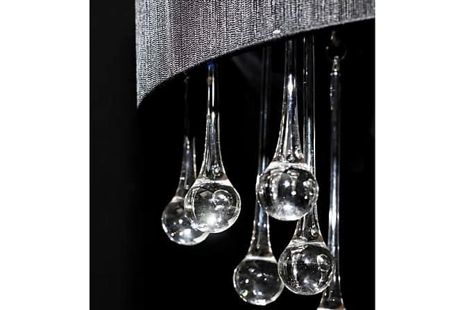 Takkrona med 85 kristaller svart - Svart - Belysning - Inomhusbelysning & Lampor - Kristallkrona & takkrona