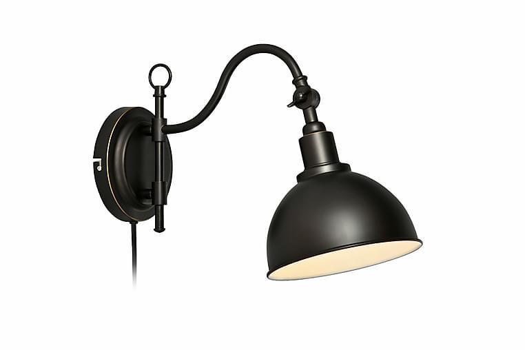 Sänglampa Vägg Ekelund Svartbrun - Markslöjd - Belysning - Inomhusbelysning & Lampor - Vägglampa