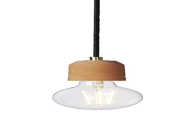 Pendellampa Groove 6 cm Rund Borstad Mässing/Terracotta - Cottex - Belysning - Inomhusbelysning & Lampor - Taklampa