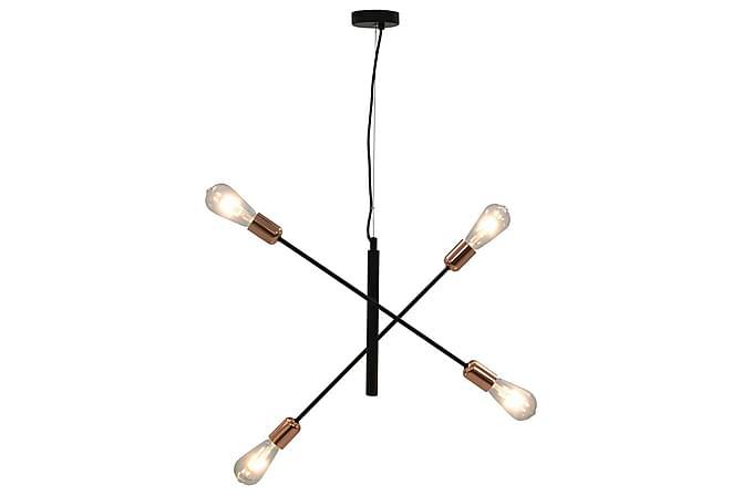 Taklampa med glödlampor 2 W svart och koppar E27 - Svart|Koppar - Belysning - Inomhusbelysning & Lampor - Taklampa
