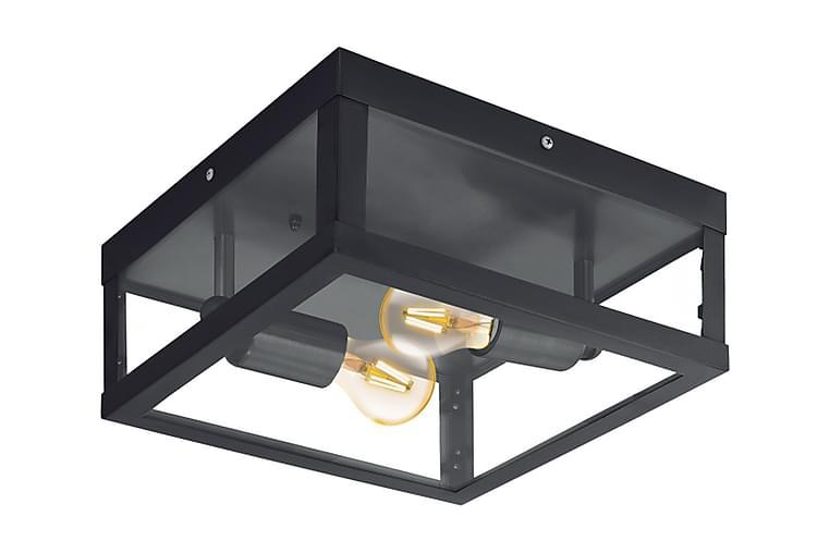 Plafond Alamonte 29 cm 2 Lampor Svart/Klar - Eglo - Belysning - Inomhusbelysning & Lampor - Taklampa