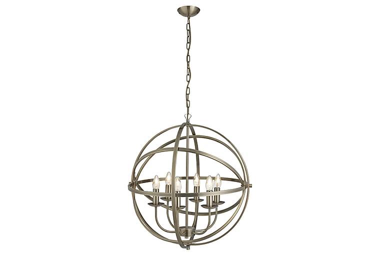 Pendellampa Orbit 60 cm Rund Dimbar 6 Lampor Antikmässing - Searchlight - Belysning - Inomhusbelysning & Lampor - Taklampa