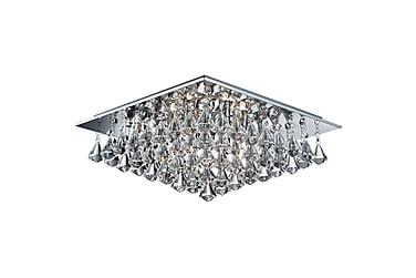 Plafond Hanna 45 cm Kvadrat Dimbar 6 Lampor Krom/Blank