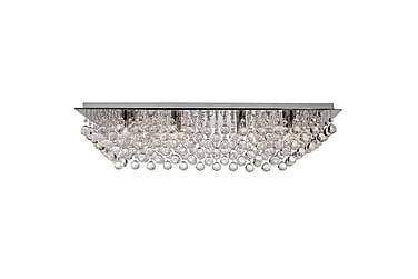 Plafond Hanna 80 cm Rektangel Dimbar 8 Lampor Krom/Blank