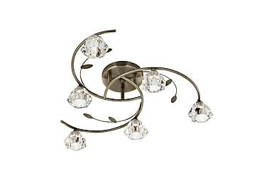 Plafond Sierra 65 cm Dimbar 6 Lampor Antikmässing
