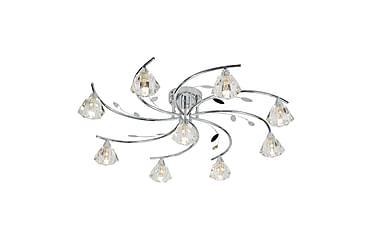 Plafond Sierra 75 cm Dimbar 9 Lampor Krom/Klarglas