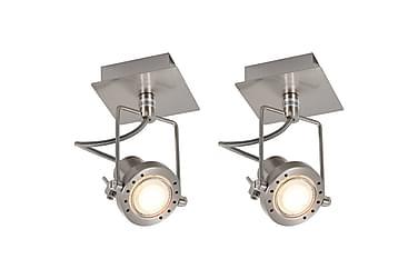 Spotlights 2 st silver GU10