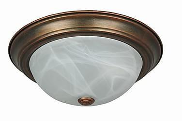 Taklampa 34 cm Rund Dimbar 2 Lampor Koppar
