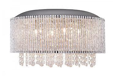 Taklampa Avenue 81 cm Hängande 6 Lampor Kristall K9/Krom