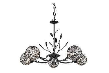 Taklampa Bellis 58 cm Dimbar 5 Lampor Svart Krom
