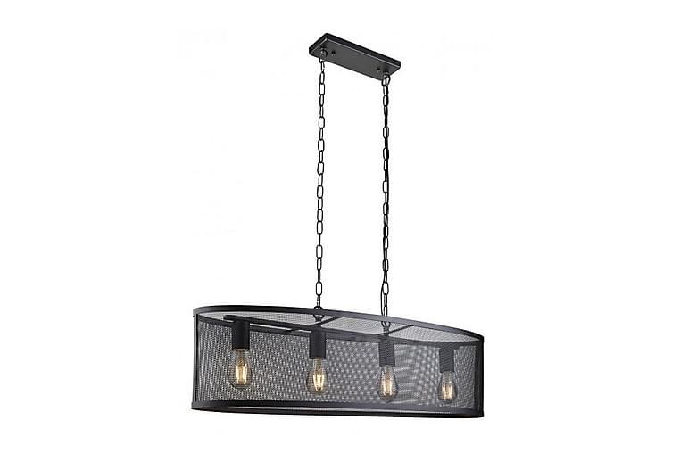 Taklampa Fishnet 91 cm Oval Dimbar 4 Lampor Svart - Searchlight - Belysning - Inomhusbelysning & Lampor - Taklampa