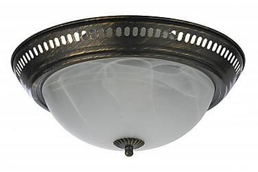 Taklampa Lisa 28 cm Rund Dimbar 2 Lampor Antikmässing
