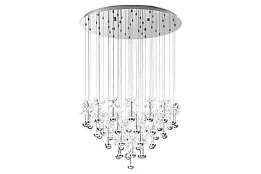 Taklampa Pianopoli LED 78 cm Krom/Kristall
