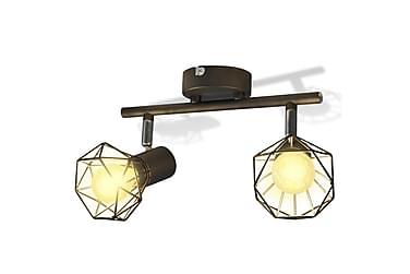 Taklampa Seneca 2 Spotlights med LED-glödlampor