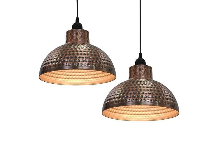 Taklampor 2 st halvrunda koppar - Brun - Belysning - Inomhusbelysning & Lampor - Taklampa
