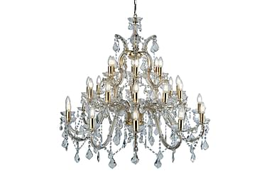 Therese Marie 30Lt Polished Brass Clear Crystal