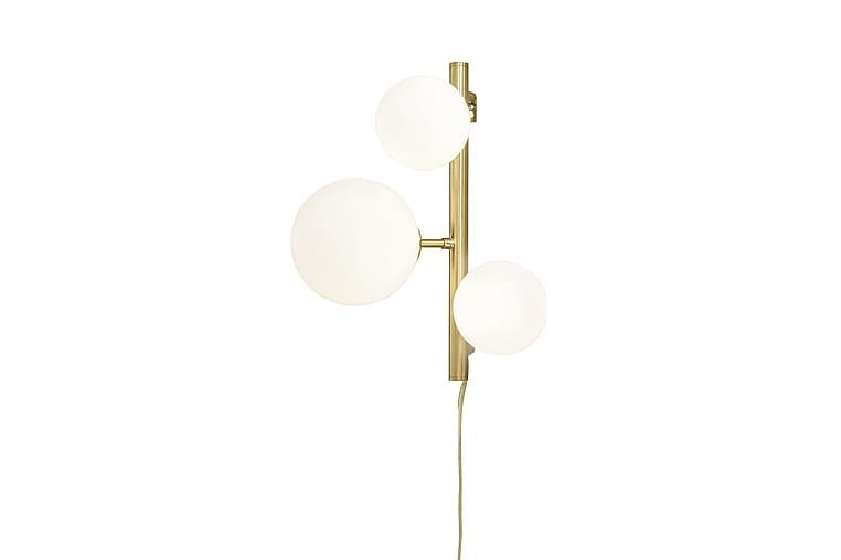 MOLEKYL vägglampa, matt mässing/vit - Belysning - Inomhusbelysning & Lampor - Vägglampa