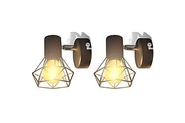 Rendina Vägglampa med LED-glödlampor 2-pack