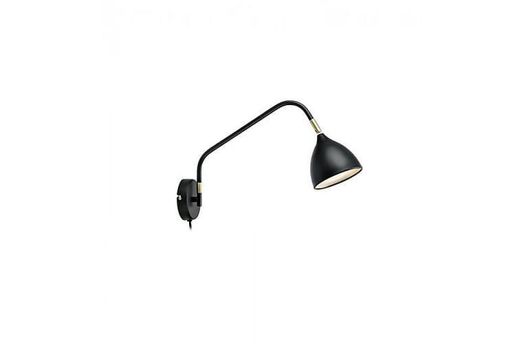 Sänglampa Vägg Valencia Svart/Mässing - Markslöjd - Belysning - Inomhusbelysning & Lampor - Vägglampa