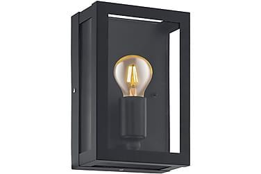 Vägglampa Alamonte 17 cm Svart/Klar