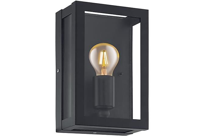 Vägglampa Alamonte 17 cm Svart/Klar - Eglo - Belysning - Inomhusbelysning & Lampor - Vägglampa