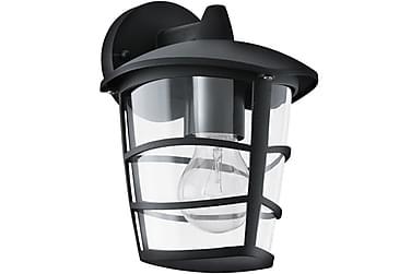 Vägglampa Aloria 17 cm Nedljus Svart