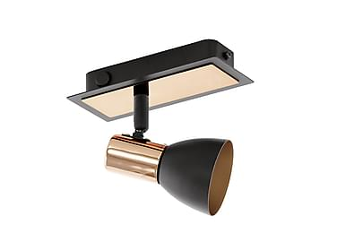 Vägglampa Barnham LED Svart/Koppar