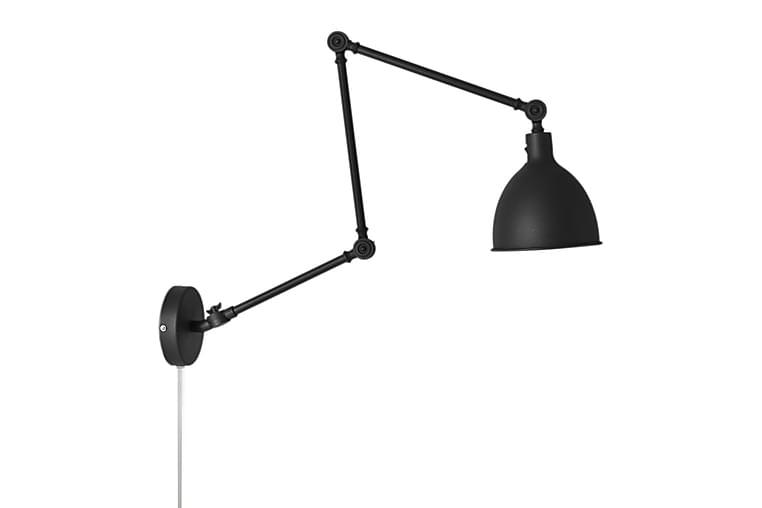 Vägglampa Bazar med Arm Lång Sand/Svart - By Rydéns - Belysning - Inomhusbelysning & Lampor - Vägglampa