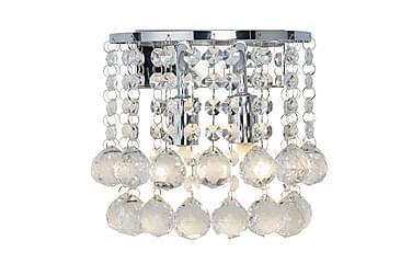 Vägglampa Hanna 18 cm Rund Dimbar 2 Lampor Krom/Blank