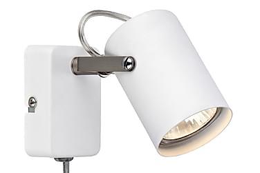 Vägglampa Key Vit/Stål