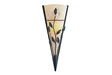 Vägglampa Leaf Wall Washer Scavo Glas/Brun