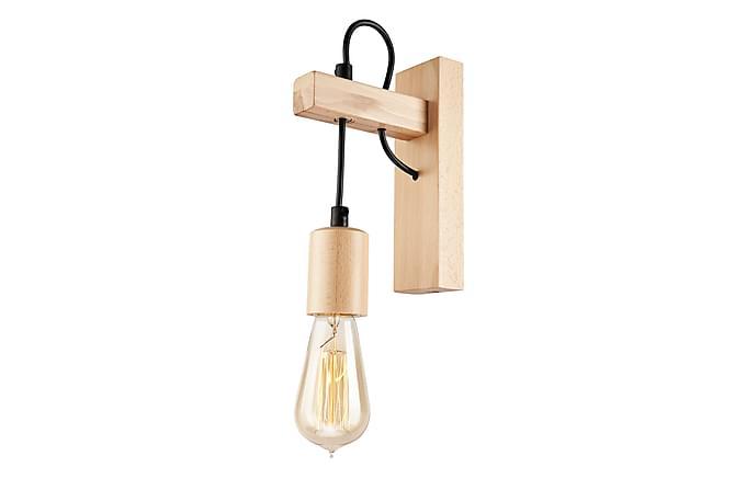 Vägglampa Leon - Svart/Natur - Belysning - Inomhusbelysning & Lampor - Vägglampa